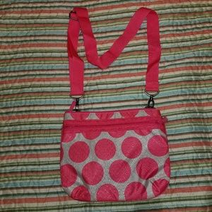 Thirty one pink and white purse